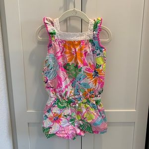 Lilly Pulitzer Nosey Posie Romper 3T